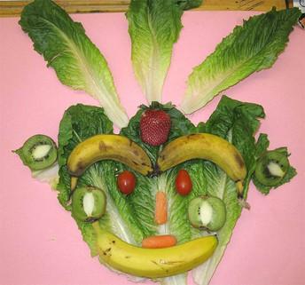 Food Collage Portrait