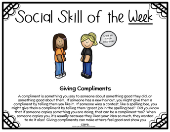 Social Skill of the Week - from our counselor, Mrs. Wilkenson