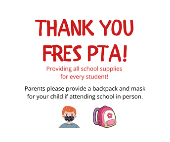 Picture of FRES PTA Thank you for school supplies