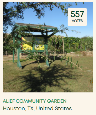 Vote for the Alief Community Garden in the Nature's Path Gardens for Good Contest!