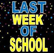 Events on Last  Week of School