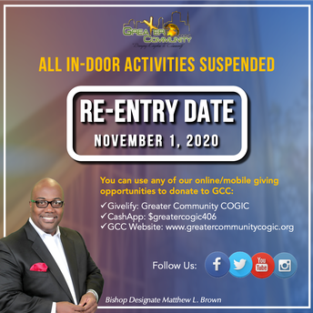Re-Entry Date for In-Person Services