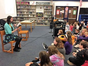 Local Author Sarah (Natale) Mondello Inspires 7th Graders at Bernotas