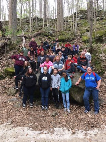 Early College 6th & 7th graders on a field trip to Mammoth Caves.