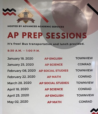 Advanced Placement  Prep Sessions