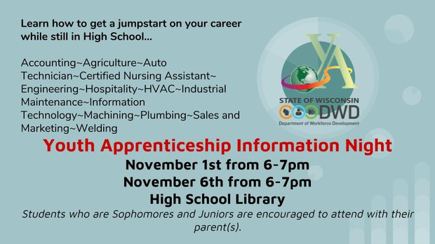 Click here for details regarding Youth Apprenticeship Information Night