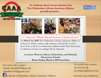 3rd Annual Dads Read Across Cheltenham
