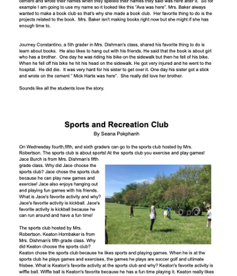 Student Newsletter- Page 3