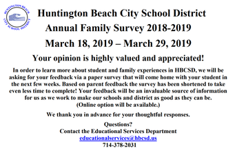 District's Annual Survey