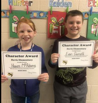 Character Award Winners