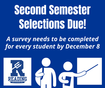second semester decisions due. a survey needs to be completed for every student by December 8