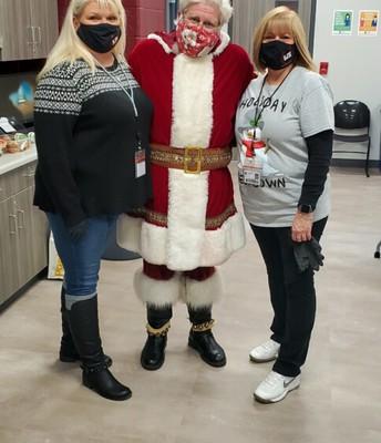 Santa & Mrs. Robison and Ms. Perez