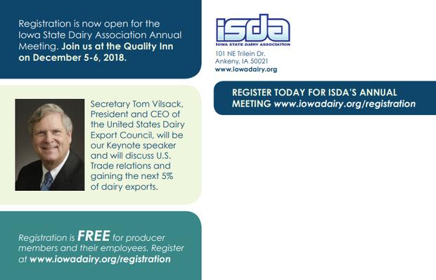 iowa dairy association annual meeting address area