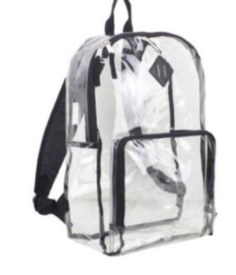 Clear backpacks/ Mochilas transparentes