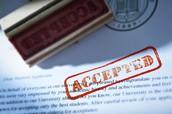 Bring your Acceptance Letter