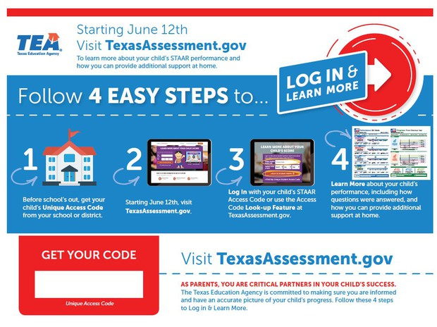 Parent Access STAAR Student Portal | Smore Newsletters for Education