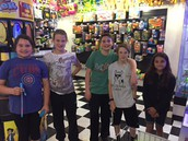 Perfect Attendance at Incredible Pizza-Gloria, Leah, Jack, Jacob, and Rosa!!