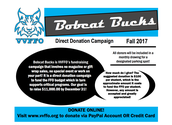Bobcat Bucks-Direct Donations Go Right to Ventana Vista