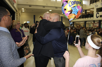Dr. Mathison's father makes trip from Florida for surprise announcement.