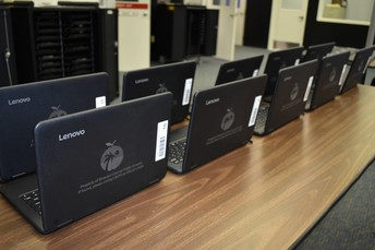 A picture of laptops