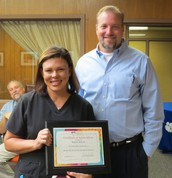 Renea Schott & Superintendent Steven Snell