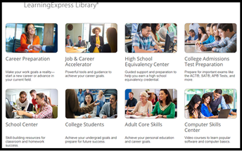 Learning Express Library - Career Readiness, Many Computer Skills Classes
