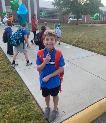student on walk to school day