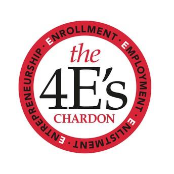 4E's logo:  Enrollment, Employment, Enlistment, Entrepreneurship