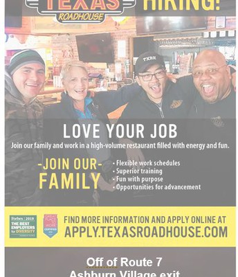 Texas Roadhouse is hiring!
