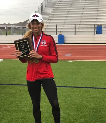 Congrats to Junior, Tori Mathiew, on her Gold Medal finish in the 300 M Hurdles and for being selected Most Outstanding Athlete at the Bubba Fife Relays this weekend!