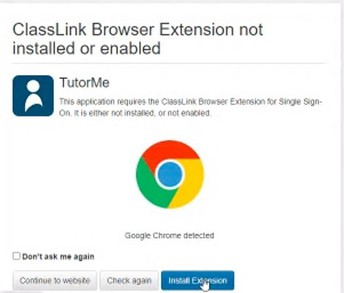 4. Possible Notification: Browser Extension Not Installed