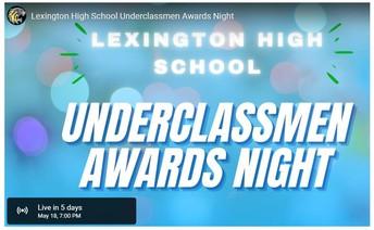 Underclassmen Awards Night - Tuesday, May 18