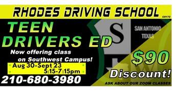 Rhodes Driving School Discount
