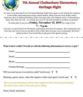 CES Heritage Night