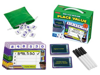 Place Value Grab & Play Game - Gr. 3-4