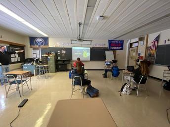 Mr. Corigliano's class learns about the American Revolution.