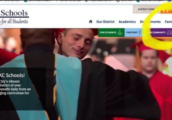 Home Page of District Website
