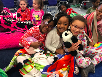 PJ's, blankets and stuffed animals!