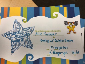 """Beefing Up"" Bulletin Boards Award"
