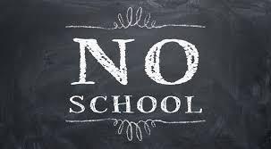 No School on February 5th, 15th & 24th