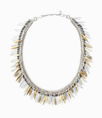 Freya fringe necklace