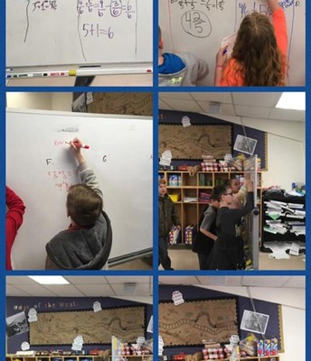 Mr. Hope's Class Using Every Possible Space to Show their Math Work