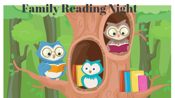 Celebrate One Book One School at the Family Reading Night on October 23!