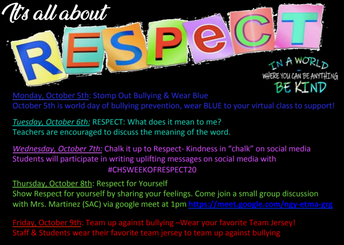 CHS Week of Respect Acitivities