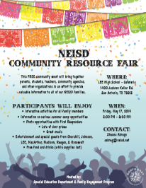 NEISD Community Resource Fair