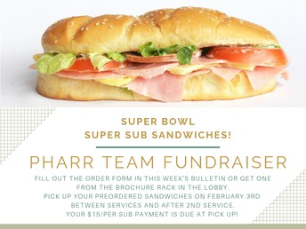 Order your delicious Super Bowl Sandwiches!