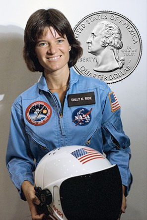 """US Mint to honor astronaut Sally Ride on """"American Women"""" quarter"""