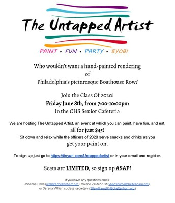 Untapped Artist Fundraiser for the Class of 2020