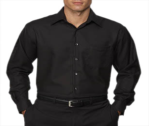 Long sleeved, button down shirts with collars
