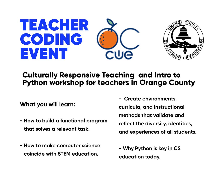 Teacher Coding Event
